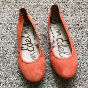 Sam Edelman Almond toe Orange flats US5.5